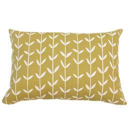 Kreatelier Vine Pillow in Green - 15 x 22in