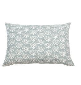 Kreatelier Floral Pillow in Blue - 15 x 22in