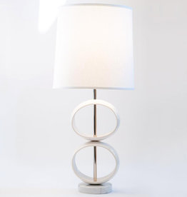 J Schatz 2 Orb Table Lamp White