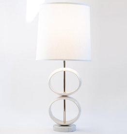 J Schatz 2 Orb Table Lamp White