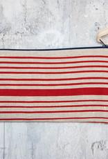 Moontea Artwork Long Zipper Pouch Red Stripes