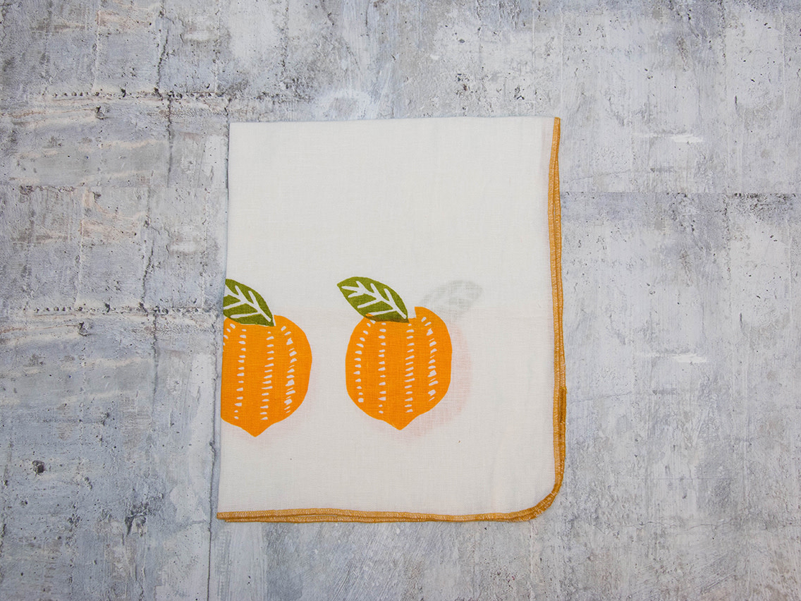 Moontea Artwork Tea Towel Lemons Yellow