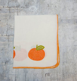 Moontea Artwork Tea Towel Tangerines Orange