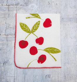 Moontea Artwork Tea Towel Cherry Red