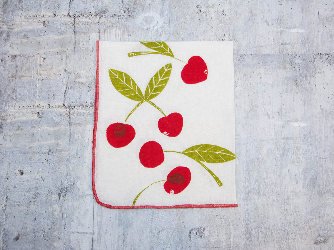Moontea Artwork Tea Towel Cherry Red