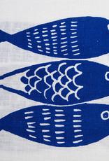 Moontea Artwork Tea Towel Sardines Blue