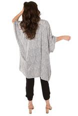 Pokoloko Batik Style Kimono Grey Paisley
