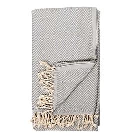 Pokoloko Turkish Herringbone Towel Gris