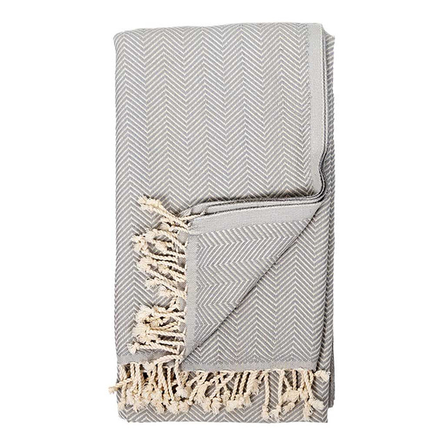 Pokoloko Turkish Herringbone Towel Gris