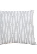 Kreatelier Diamond Pillow in Grey - 18 x 18in
