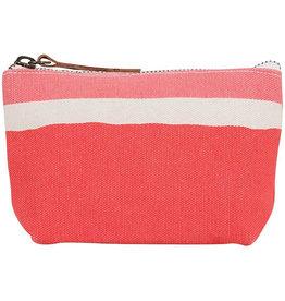 Rockflowerpaper Zip Pouch Painterly Small Stripe Pink