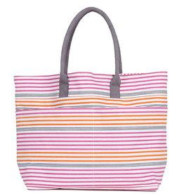 Rockflowerpaper Beach Tote Bag Stephanie Pink