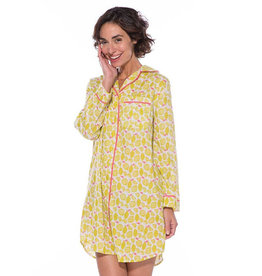 Rockflowerpaper Sleep Shirt Lemon Yellow