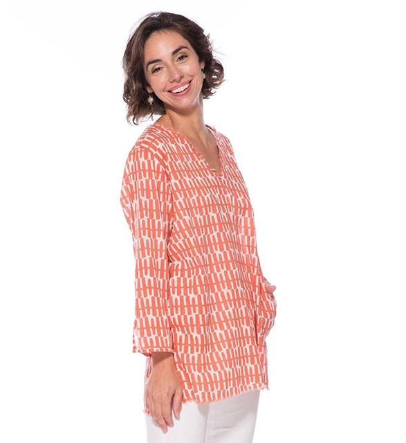 Rockflowerpaper Malibu Tunic Rita Coral