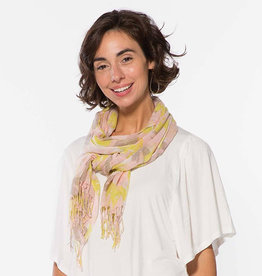 Rockflowerpaper Scarf Ana Yellow with Tassels
