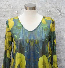 Nally and Millie Floral Tunic Green & Yellow