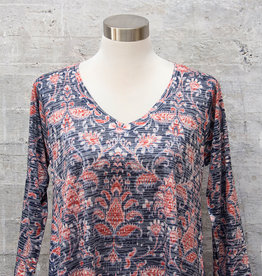 Nally and Millie Paisley Print Top Red