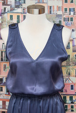 Tina & Jo Tab Top Jumpsuit Satin in De Nimes