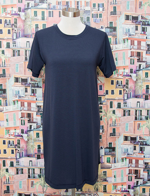 Nally and Millie French Terry Hi Low Dress Ink