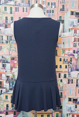 Nally and Millie French Terry Ruffle Tank Ink