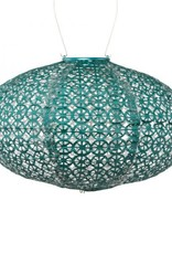 "Allsop Home and Garden Solar Lantern Soji Oval Mineral Green 14"" X 8"""