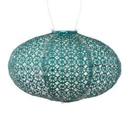 """Allsop Home and Garden Solar Lantern Boho Oval Emerald 14"""" X 9"""""""