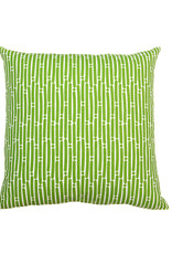 Kreatelier Stripe Pillow in Green and White - 18 X 18in
