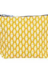 Rockflowerpaper Large Zip Pouch Buoy Yellow