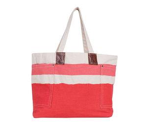 Rockflowerpaper Tote Bag Painterly Stripe Pink