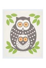 Swedish Dishcloth Owls Green
