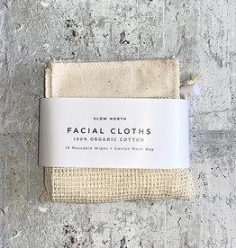 Slow North Reusable Facial Cloths Natural