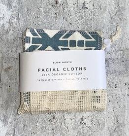 Slow North Reusable Facial Cloths Print set of 14