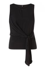 Yest Sleeveless Tie Top in Black