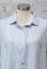 Yest Short Sleeve Top in Blue and White Stripe