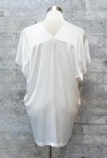 Tina & Jo Kimono Top Satin in White