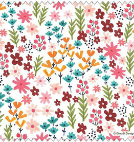 Gina B Designs Microfiber Cloth Summer Flowers