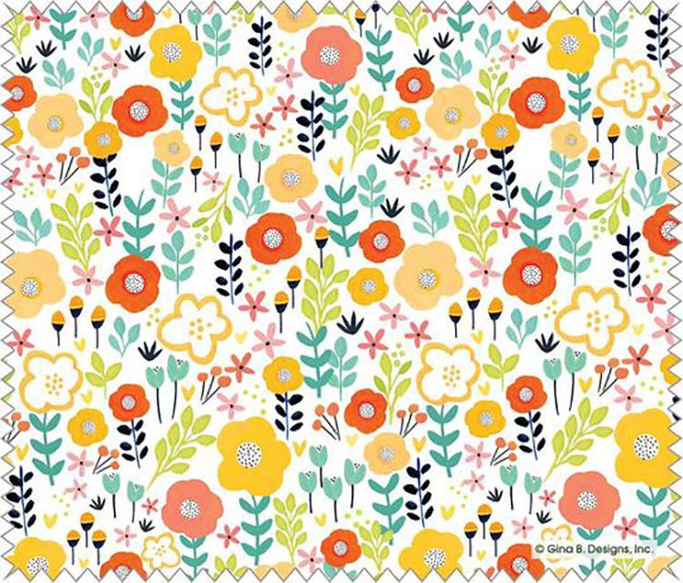 Gina B Designs Microfiber Cloth Red/Yellow Poppy