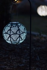 Allsop Home and Garden Solar Lantern Globe Ink Wave 8""