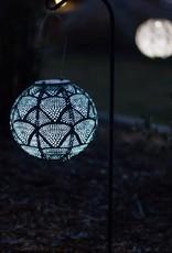 "Allsop Home and Garden Solar Latern Globe Ink Wave 8"""