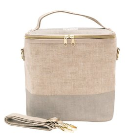 So Young Large Cooler Bag Cement Color Block
