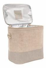 So Young Large Cooler Bag Linen Cement Colour Block