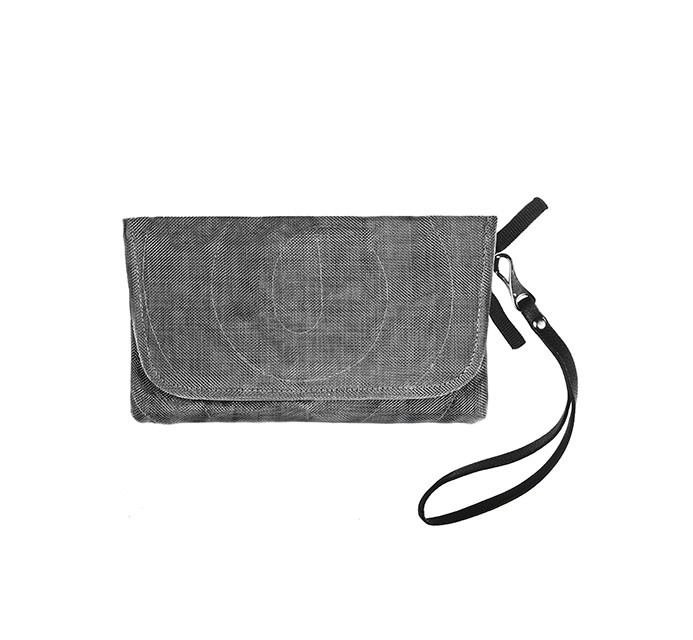 Helping Hand Partners Passport Travel Clutch in Charcoal
