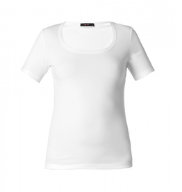Yest Yasmina Scoop Neck Top in White