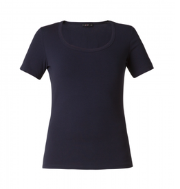 Yest Yasmina Scoop Neck Top in Navy