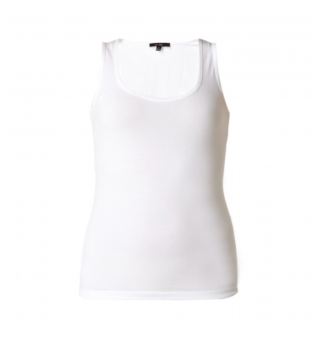 Yest Yippie Wide Band Tank in White