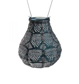 "Allsop Home and Garden Solar Lantern Bulb Wave Ink 8"""