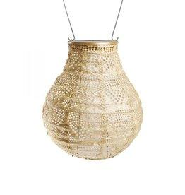 "Allsop Home and Garden Solar Lantern Bulb Wave Pearl 8"""