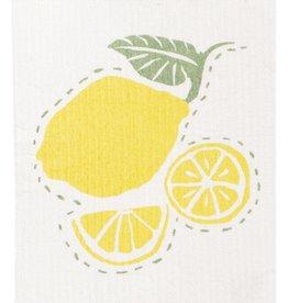 Rockflowerpaper Swedish Dishcloth Lemons Set of Two