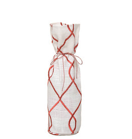 Kreatelier Bottle Gift Bag Swirl Rust
