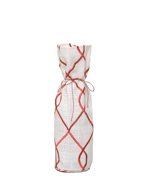 Kreatelier Bottle Gift Bag Swirl Rust